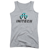 Office Space Initech Logo Junior Women's Tank Top Athletic Heather