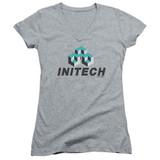 Office Space Initech Logo Junior Women's T-Shirt V Neck Athletic Heather