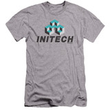 Office Space Initech Logo Premium Canvas Adult Slim Fit 30/1 T-Shirt Athletic Heather