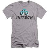 Office Space Initech Logo Premium Canvas Adult Slim Fit 30/1 T-Shirt Athletic Heather