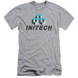 Office Space Initech Logo S/S Adult 30/1 T-Shirt Athletic Heather