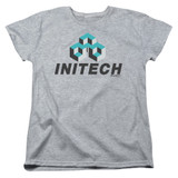 Office Space Initech Logo S/S Women's T-Shirt Athletic Heather