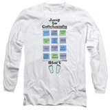 Office Space Jump To Conclusions Long Sleeve Adult 18/1 T-Shirt White