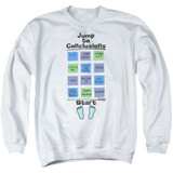 Office Space Jump To Conclusions Adult Crewneck Sweatshirt White