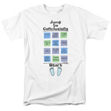Office Space Jump To Conclusions S/S Adult 18/1 T-Shirt White