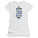 Office Space Jump To Conclusions S/S Junior Women's T-Shirt Sheer White