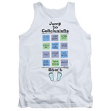 Office Space Jump To Conclusions Adult Tank Top White