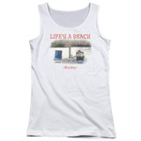 Office Space Life's A Beach Junior Women's Tank Top White