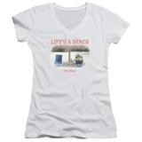 Office Space Life's A Beach Junior Women's T-Shirt V Neck White