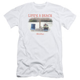 Office Space Life's A Beach S/S Adult 30/1 T-Shirt White