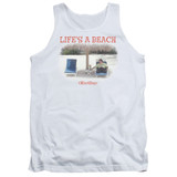 Office Space Life's A Beach Adult Tank Top White