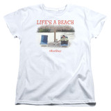 Office Space Life's A Beach S/S Women's T-Shirt White