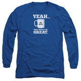 Office Space That Would Be Great Long Sleeve Adult 18/1 T-Shirt Royal Blue