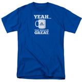 Office Space That Would Be Great S/S Adult 18/1 T-Shirt Royal Blue