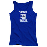Office Space That Would Be Great Junior Women's Tank Top Royal Blue