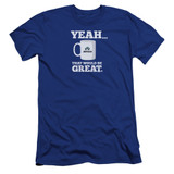 Office Space That Would Be Great Premium Canvas Adult Slim Fit 30/1 T-Shirt Royal Blue