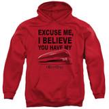 Office Space Stapler Adult Pullover Hoodie Sweatshirt Red