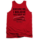 Office Space Stapler Adult Tank Top Red