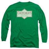Office Space Chotchkies Long Sleeve Adult 18/1 T-Shirt Kelly Green