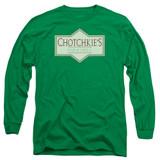Office Space Chotchkies Long Sleeve Adult 18/1 T-Shirt Kelly Green