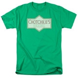 Office Space Chotchkies S/S Adult 18/1 T-Shirt Kelly Green