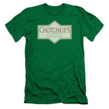 Office Space Chotchkies S/S Adult 30/1 T-Shirt Kelly Green