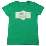 Office Space Chotchkies S/S Women's T-Shirt Kelly Green
