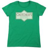 Office Space Chotchkies S/S Women's T-Shirt Kelly Green