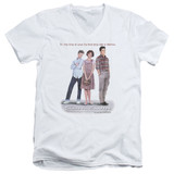 Sixteen Candles Poster S/S Adult V-Neck T-Shirt White