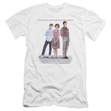 Sixteen Candles Poster Premium Canvas Adult Slim Fit 30/1 T-Shirt White