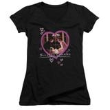 Sixteen Candles Candles Junior Women's T-Shirt V-Neck Black