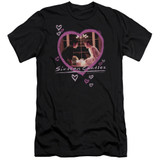 Sixteen Candles Candles Premium Canvas Adult Slim Fit 30/1 T-Shirt Black