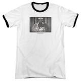 Sixteen Candles Birthday Way Adult Ringer T-Shirt White/Black