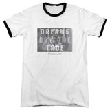 Sixteen Candles Dreamers Adult Ringer T-Shirt White/Black