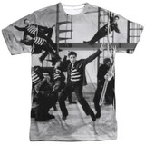 Elvis Presley Jubilant Felons Adult Sublimated Crew T-Shirt White