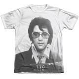 Elvis Presley Mugshot Adult Sublimated T-Shirt White
