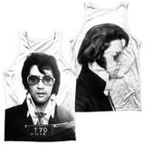 Elvis Presley Mugshot (Front/Back Print) Adult Sublimated Tank Top T-Shirt White