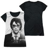 Elvis Presley Mugshot Junior Women's Sublimated T-Shirt White