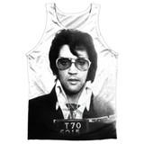 Elvis Presley Mugshot Adult Sublimated Tank Top T-Shirt White