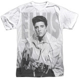 Elvis Presley Play Me A Song Adult Sublimated Crew T-Shirt White