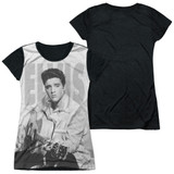 Elvis Presley Play Me A Song Junior Women's Sublimated T-Shirt White