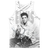 Elvis Presley Play Me A Song Adult Sublimated Tank Top T-Shirt White