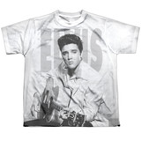 Elvis Presley Play Me A Song Youth Sublimated Crew T-Shirt White
