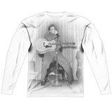 Elvis Presley On Your Toes Adult Sublimated Long Sleeve T-Shirt White