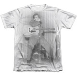 Elvis Presley On Your Toes Adult Sublimated T-Shirt White