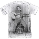Elvis Presley On Your Toes Adult Sublimated Crew T-Shirt White