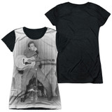 Elvis Presley On Your Toes Junior Women's Sublimated T-Shirt White