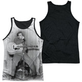 Elvis Presley On Your Toes Adult Sublimated Tank Top T-Shirt White/Black