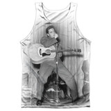 Elvis Presley On Your Toes Adult Sublimated Tank Top T-Shirt White