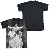 Elvis Presley Legendary Performance Adult Sublimated T-Shirt White/Black